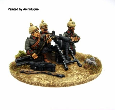 Great War Miniatures - World War One - German Heavy Machine Gun - G104