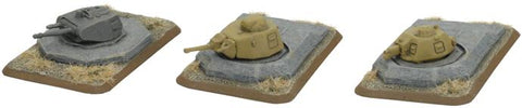 Flames of War - Turret Bunkers - GE681