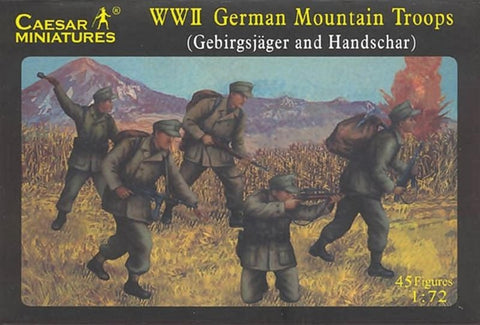 Caesar Miniatures - H067 - WWII German Mountain Troops - 1:72