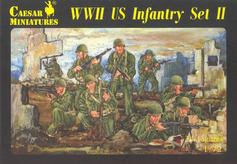 Caesar Miniatures - H071 - WWII US Infantry Set II - 1:72