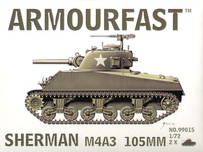 Armourfast - Sherman M4A3 105MM - 1:72