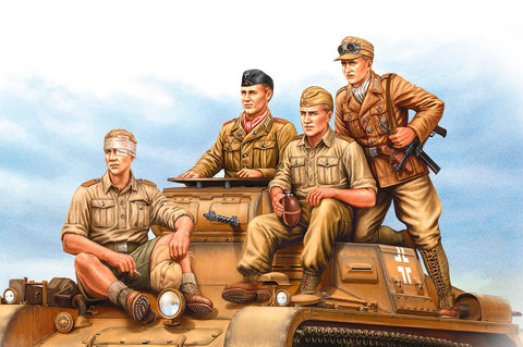 Hobby Boss HB84409 - German Tropical Panzer Crew (WWII) - 1:35