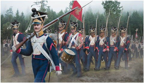 STR142 - Polish Infantry on the March Napoleonic - 1:72