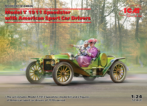 ICM - 24026 - Model T 1913 Speedster with American Sport Car Drivers - 1:24