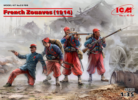ICM - 35709 - French Zouaves (1914) (4 figures) (WWI) - 1:35