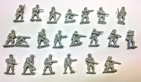 Black Tree Design - German Infantry WWII (x 19 men + HMG) - 28mm - USED