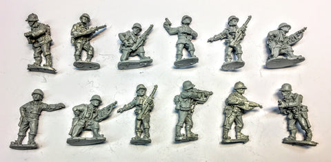 Black Tree Design - American Infantry WWII (x 12 men) - 28mm - USED
