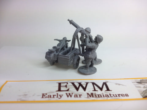 EWM - Dutch BMW R12 motorcycle Anti-aircraft with sidecar, crew AND 2 standing crew options.