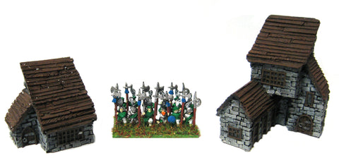 Forge World for Warmaster - Empire Out Houses 10mm