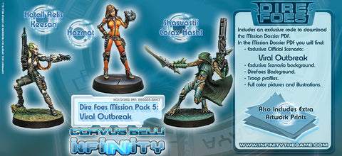 Infinity - Dire Foes - Mission pack 5: Viral Outbreak - 28mm