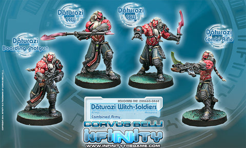 Infinity - Combined Army - Daturazi witch-soldiers - 28mm