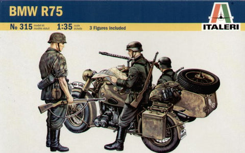 Italeri - 0315 - BMW R75 with Sidecar - 1:35