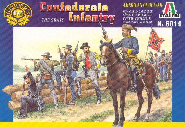 Italeri 6014 - Confederate infantry (The greys) - 1:72