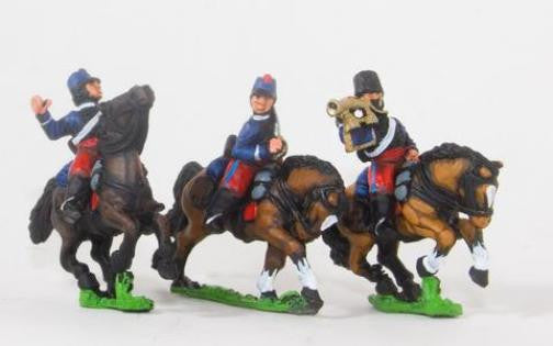Essex - French Command Cavalry. Hussar Officer, Standard Bearer &Trumpeter - 15mm