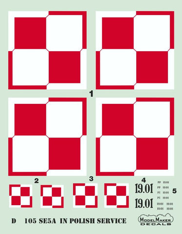 Model Maker Decals 48110 - Royal_Aircraft_Factory Se.5a in Polish service - 1:48