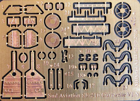 NH Detail 144025 - Sud-Aviation SE-210 Caravelle VI-N Detail Set - 1:144