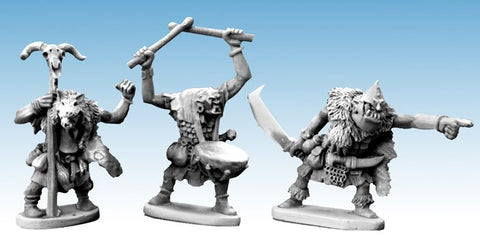 North Star - Great Goblin, Shaman, Drummer - 28mm