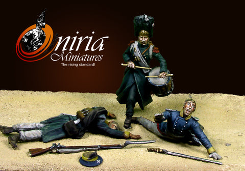 Oniria Miniatures - The Old guards Grenadiers at Plancenoit III - 36mm