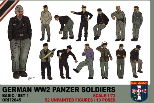 Orion 72045 - German WW2 Panzer soldiers - 1:72