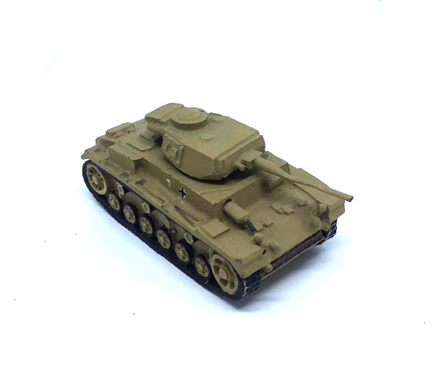 German Panzer III (painted) in metal - 1:72 (20mm)