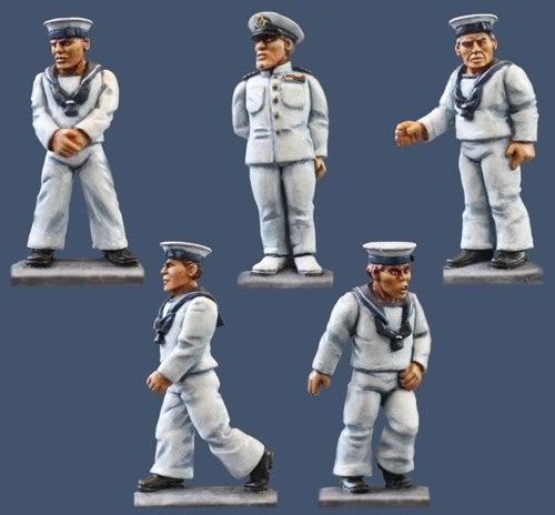 Pulp Figures - Royal Navy Deck Crew - 28mm - PBT 16