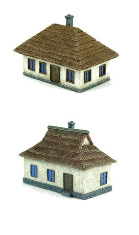 Pegasus - 0870 - Ukrainian House - 1 large & 1 small both painted - 1:144