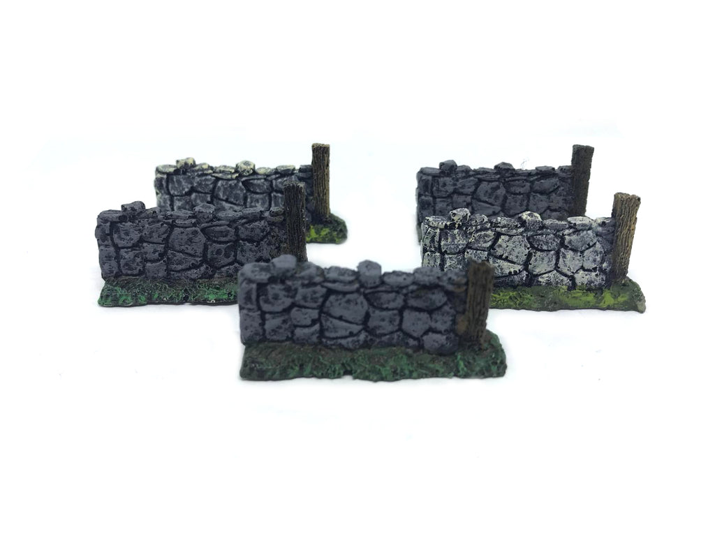Scenery Wargame - 10-15mm - ES79 - Low wall - USED x5