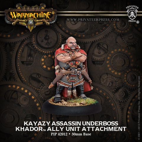 Warmachine - Kayazy Assassin underboss Ally unit attachment - 28mm