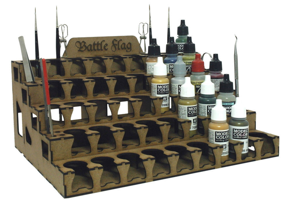 Battle Flag - Paint Storage for Vallejo/Model Color Size pots