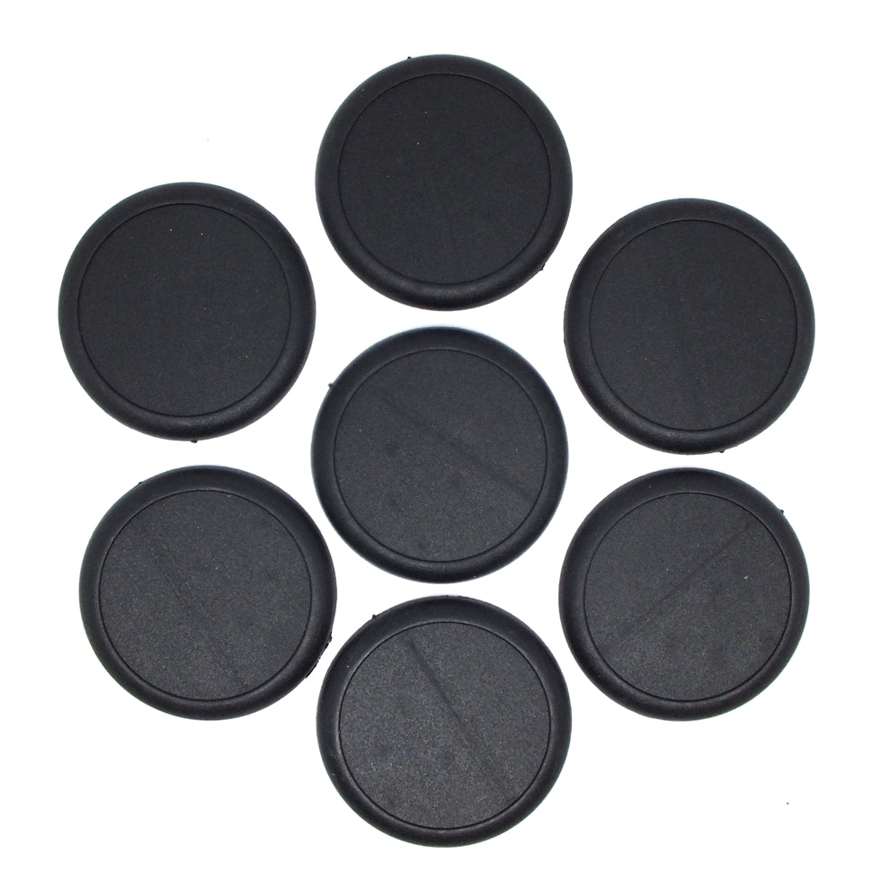 Plastic Bases - 50mm Round lip blank bases (7) - 99.009