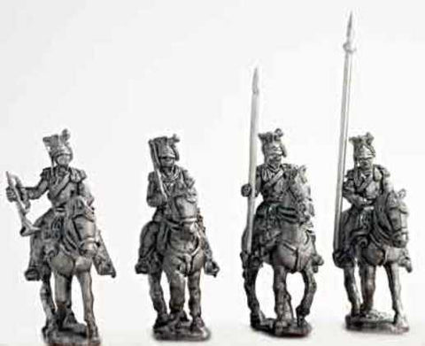 Mirliton - Austrian Ulan command group, walking (italian war of independence) - 15mm