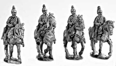 Mirliton - Austrian Dragoons walking, hands on bridles (italian war of independence) - 15mm
