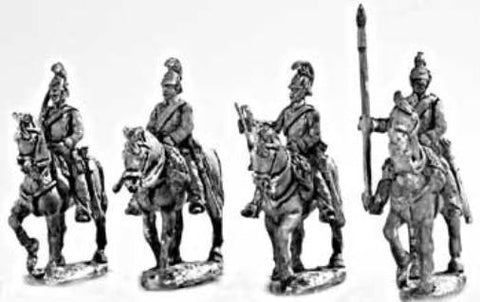 Mirliton - Austrian Dragoons walking Command Group (italian war of independence) - 15mm