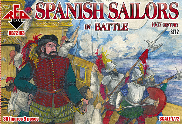 Red Box RB72103 - Spanish Sailors set 2 in Battle - 1:72