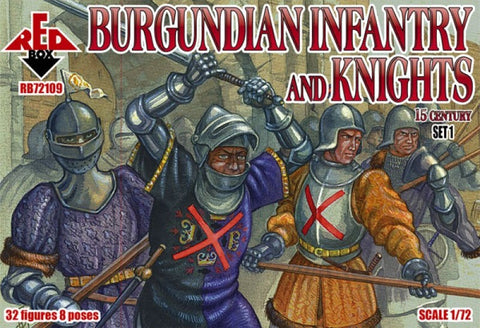 Red Box - Burgundian infantry and knights set 1 - 1:72