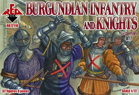 Red Box - Burgundian infantry and knights set 2 - 1:72