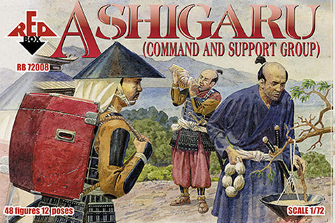 Red Box - Ashigaru (command and support group) - 1:72