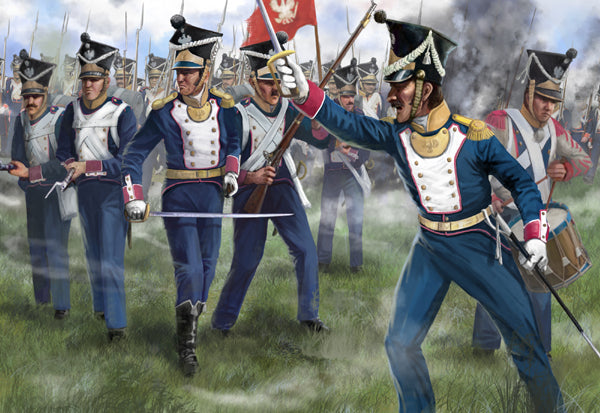 Strelets 0144 - Polish troops in attack - 1:72