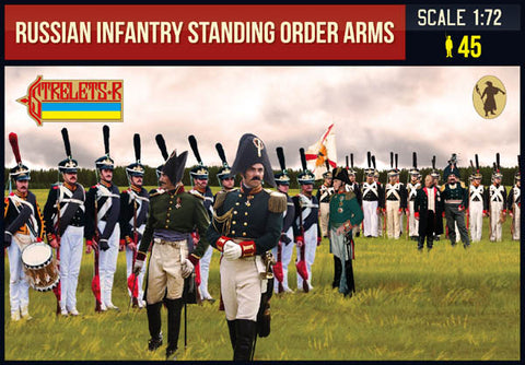 Strelets - 0217 - Russian Infantry Standing Order Arms Napoleonic - 1:72