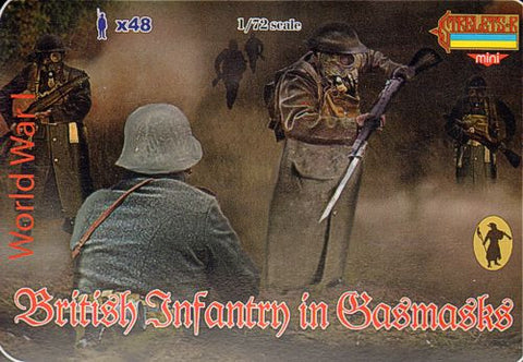 Strelets - British infantry in Gasmasks - 1:72