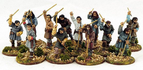 Gripping Beast - SAGA - Saxon Ceorls (levy) sling - 28mm