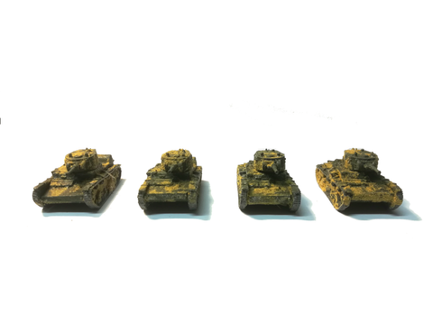 Peter Pig - Russian Tanks T-26 WWII (x4) - 15mm - PAINTED