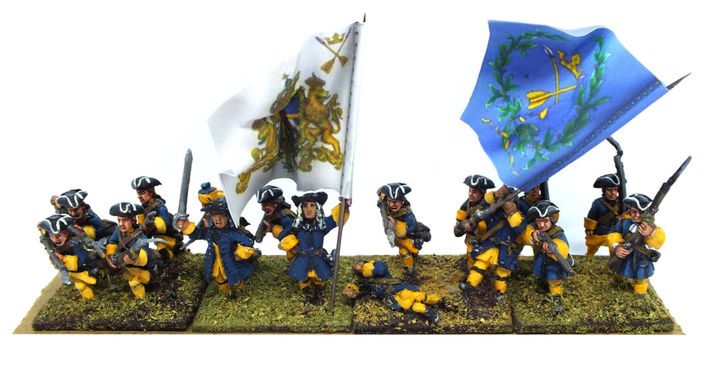Swedish infantry (great northern war) - painted - 28mm