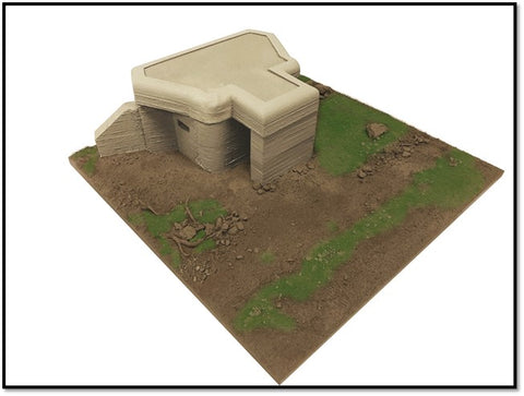 True Details D35003 - WWII CONCRETE GERMAN MACHINE GUN BUNKER - 1:35