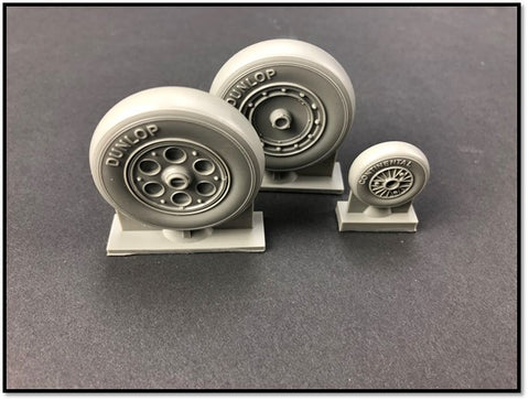 True Details P32223 - Focke-Wulf Fw-190A-8 SMOOTH TREAD WHEEL SET - 1:32