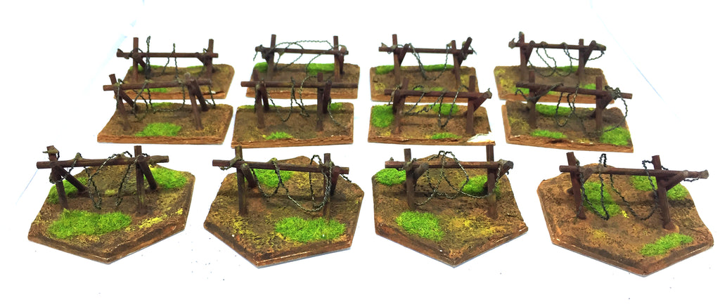 Scenery Wargame - Trench painted x12 (28mm) - Measures: 6cm x 3cm
