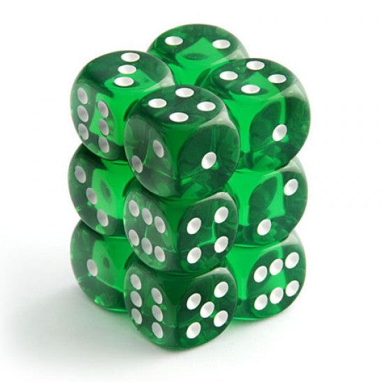 Chessex - Green w/white - dice set (16mm)