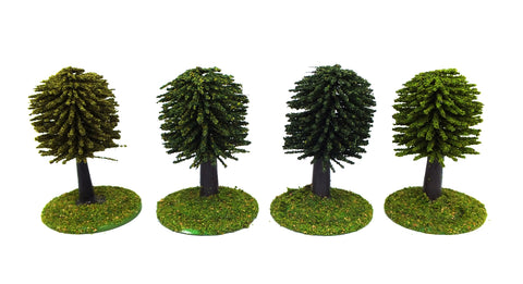 Trees - Mixed colours (25mm) with bases and flocage
