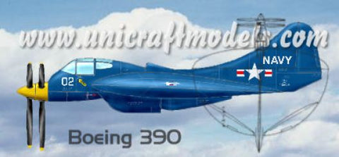"Unicraft 72135 - Boeing 390 / F9B-2 U.S. NAVY ""Flying Flapjack"" fighter project - 1:72"