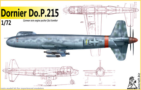 Unicraft 72147 - Dornier P.215 German twin engined pusher fast bomber - 1:72